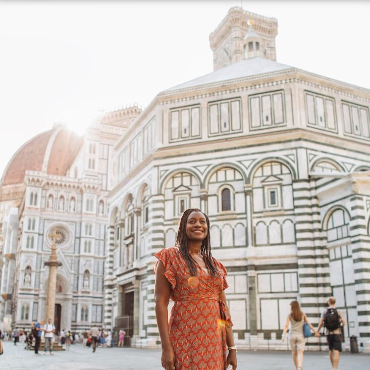 Monique White in Italy