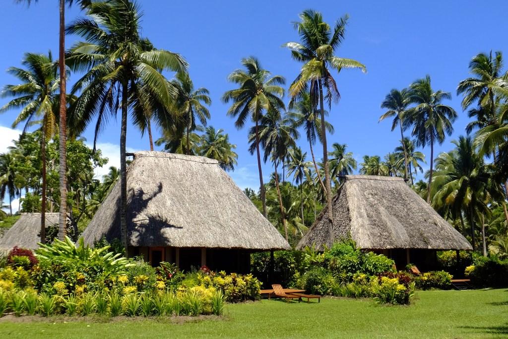 Traditional bure, Vanua Levu island, Fiji