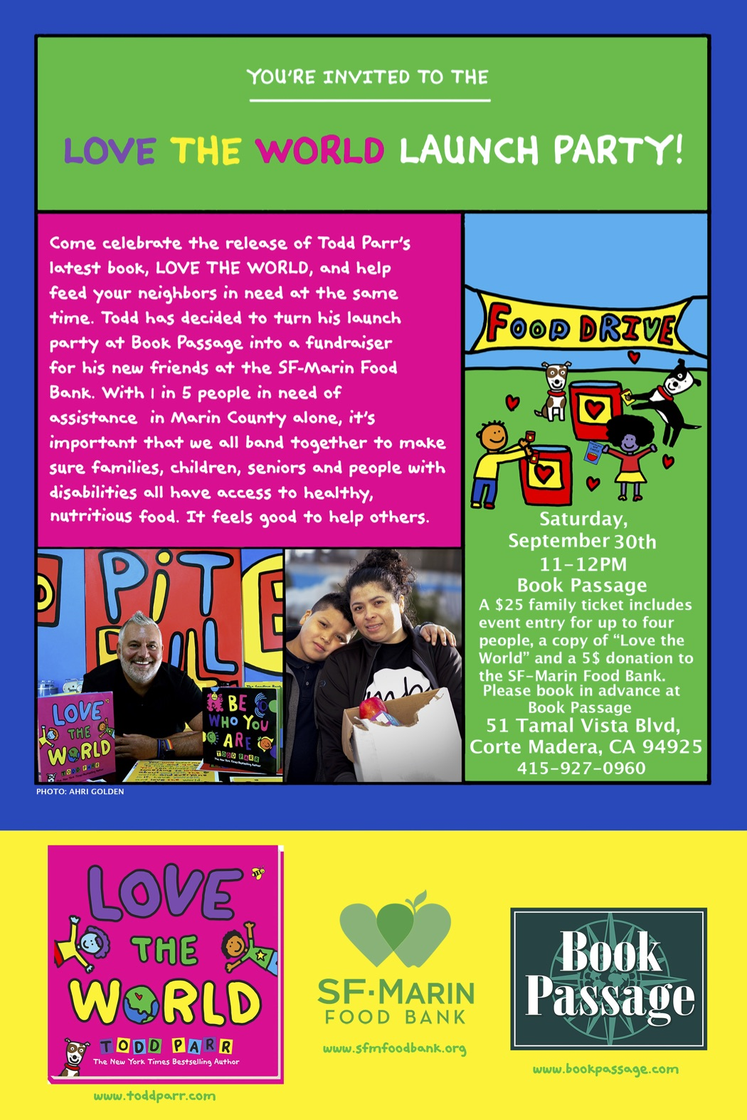 TODD PARR DAY AT THE FOOD BANK