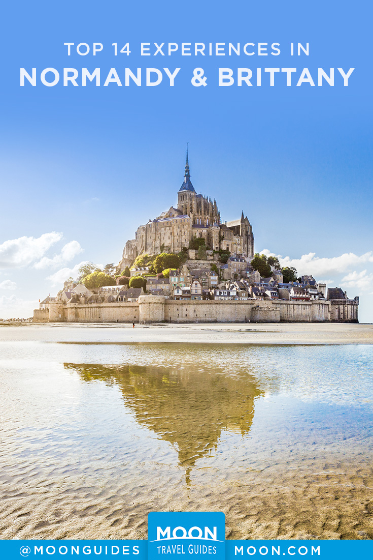 experiences in Normandy & Brittany Pinterest graphic