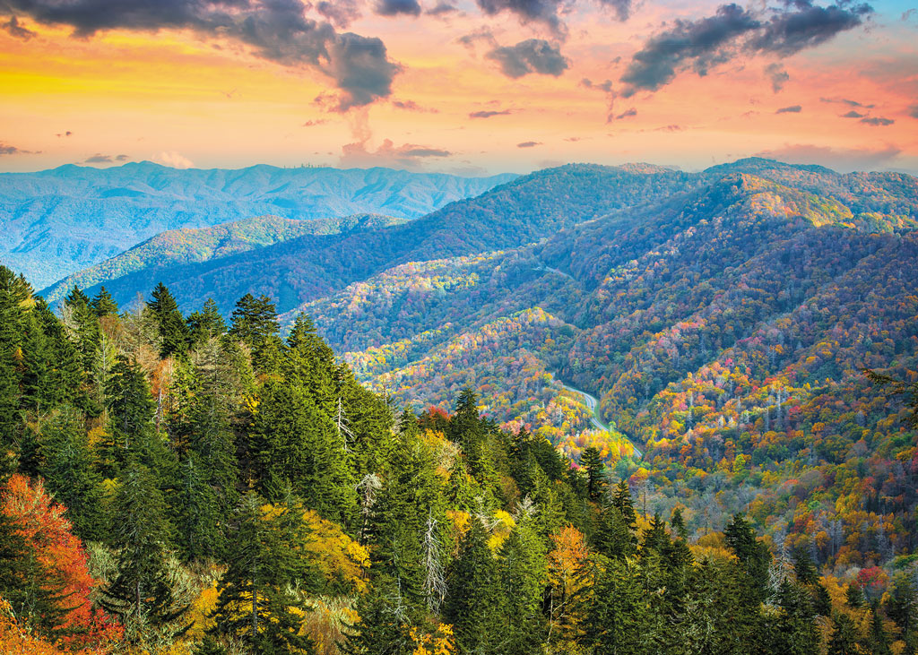 mountain pass in the Great Smoky Mountains