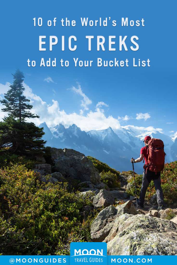 best hikes in the world pinterest graphic
