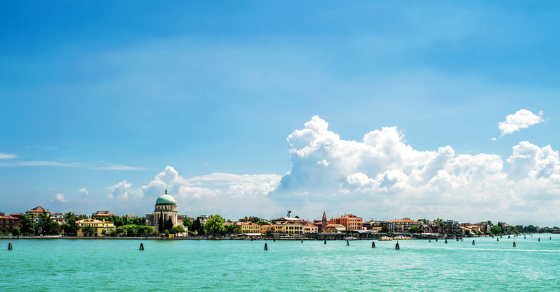 Lido Venice panorama of the island