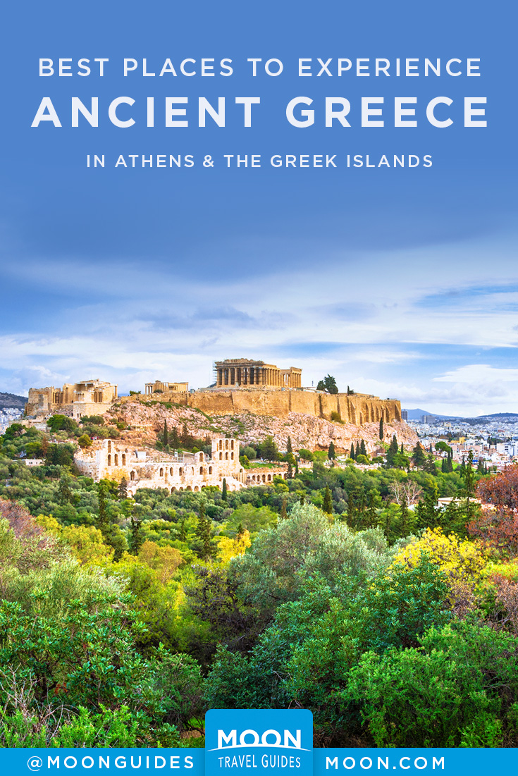 ancient greece ruins pinterest graphic