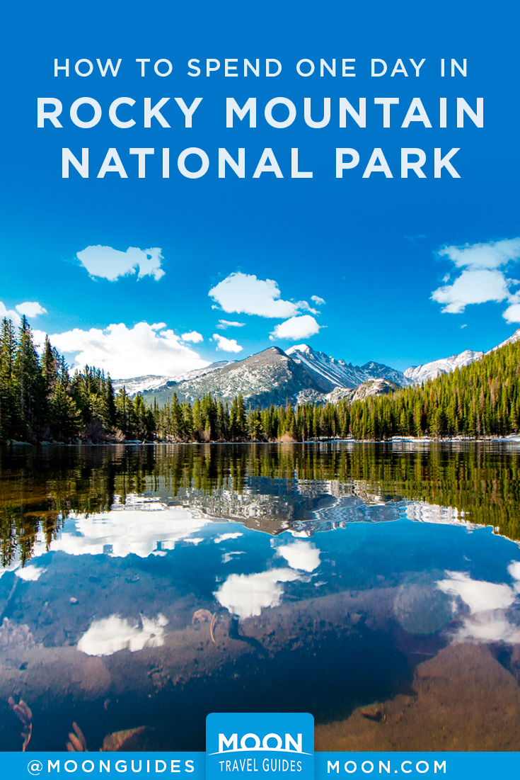 one day in rocky mountain national park pinterest graphic