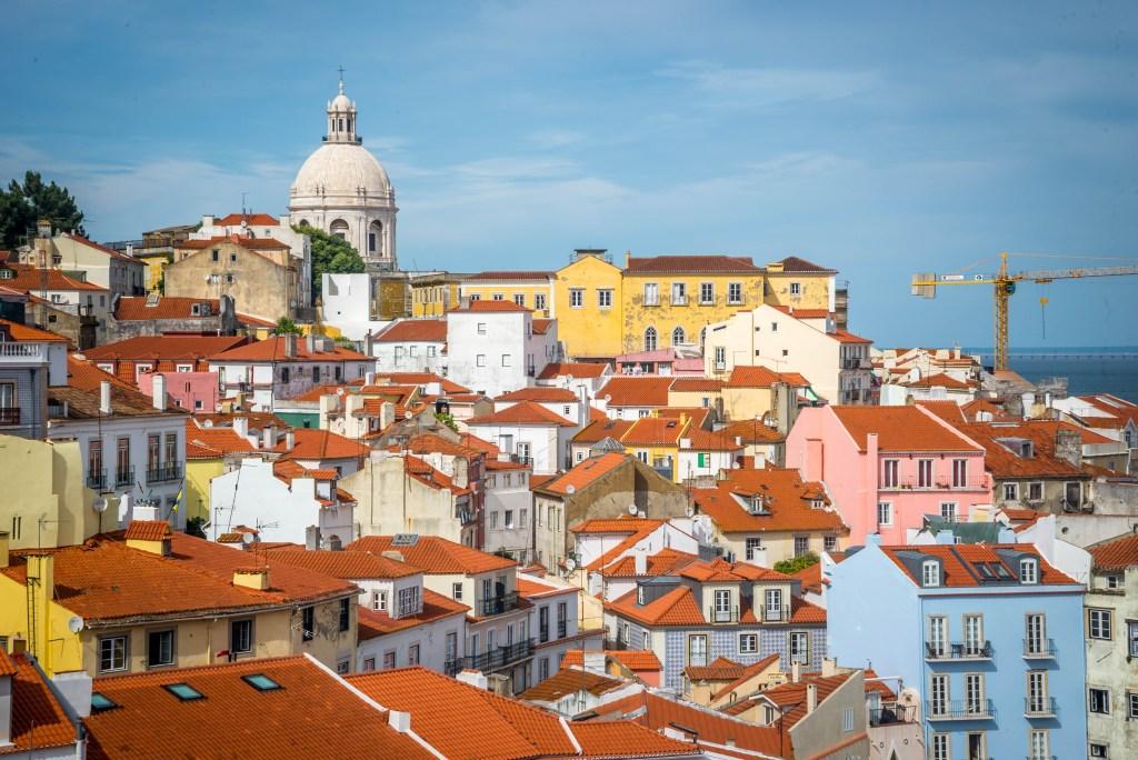 Rooftops in Alfama, Lisbon.
