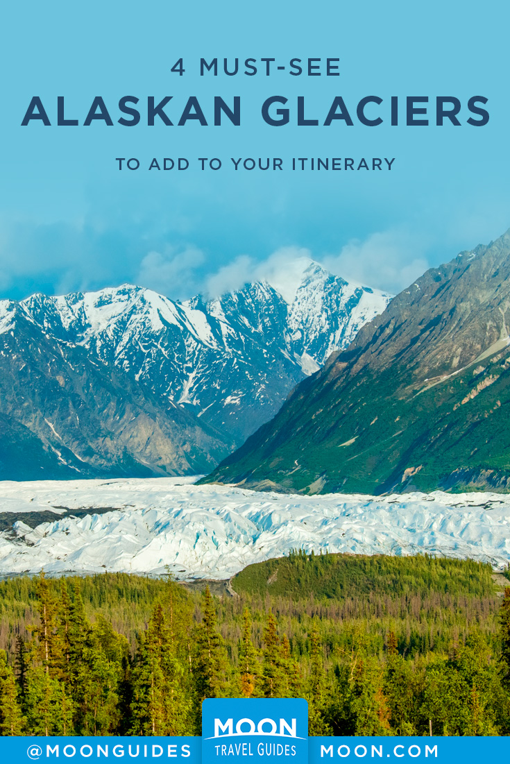 pinterest graphic with overlaid text that says best alaskan glaciers to add to your itinerary