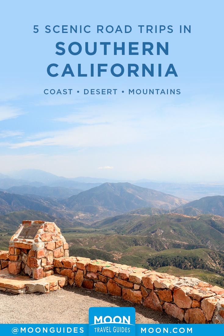 southern california scenic road trip ideas pinterest graphic