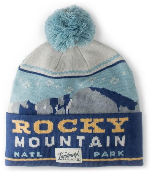beanie with rocky mountain national park design