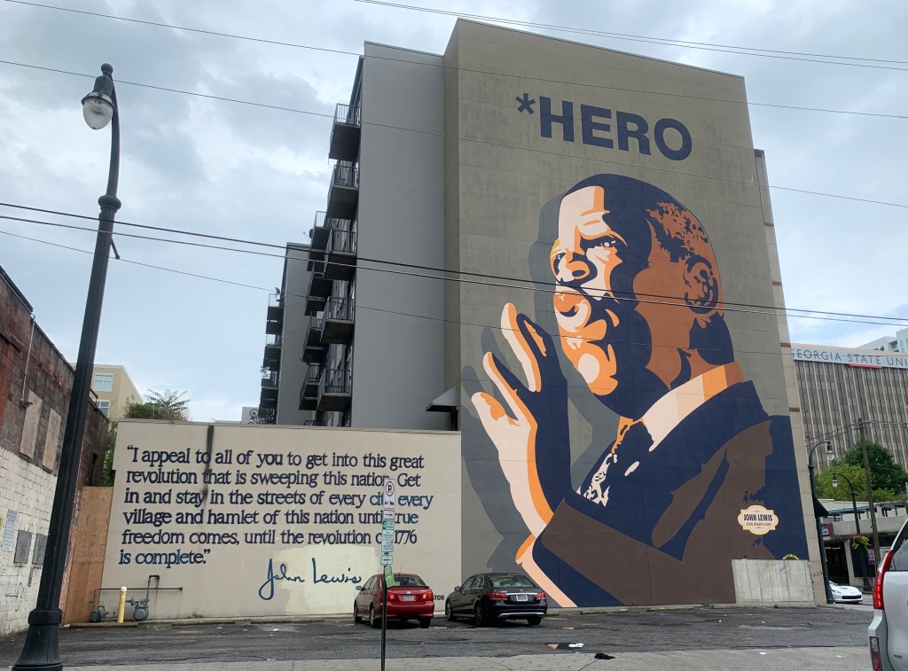 John Lewis Mural in Atlanta