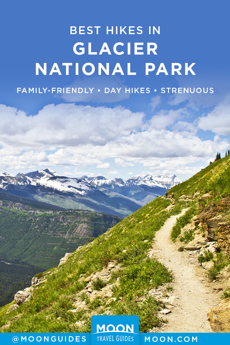 hikes in glacier pinterest graphic