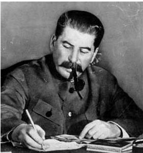 Joseph Stalin at work