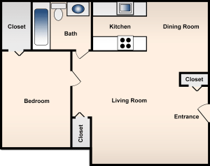 1 Bed / 1 Bath / 654 ft² / Availability: Please Call / Deposit: $300 / Rent: $635