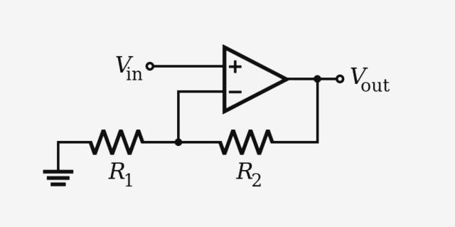 Non inverting operational amplifier
