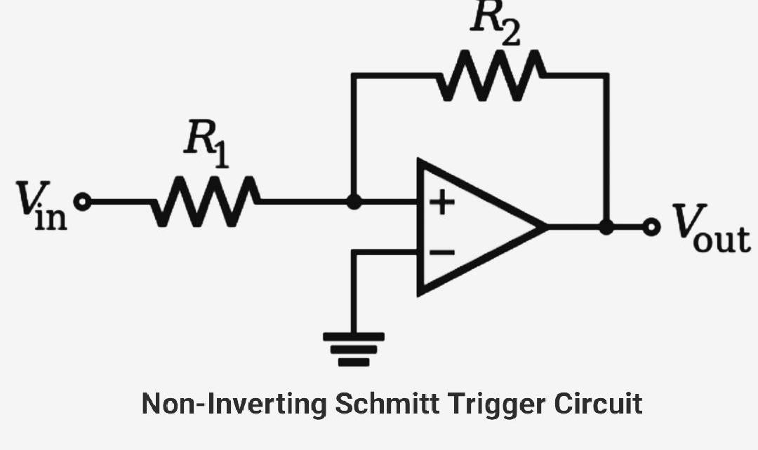 Non inverting Schmitt trigger circuit