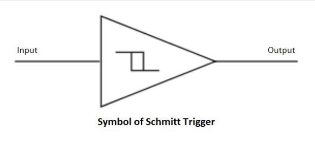 Schmitt trigger symbol