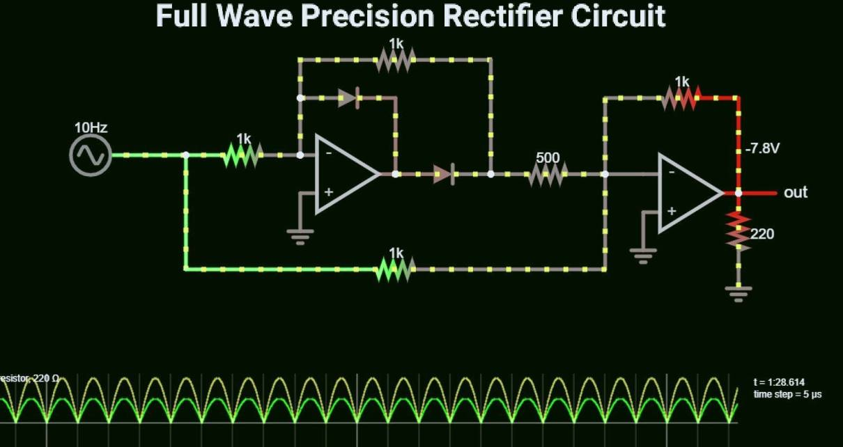 Full wave precision rectifier circuit