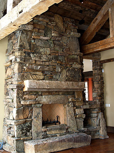 Fireplace  Rockwork  Hackbarth Construction