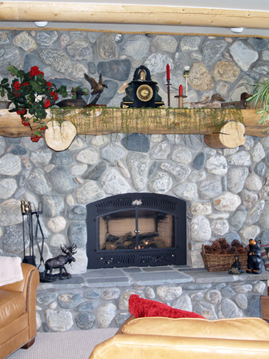 Fireplace  Rockwork  Hackbarth Construction