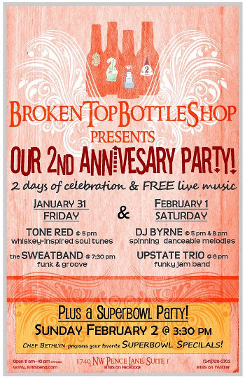 Broken Top Bottle Shop 2nd anniversary