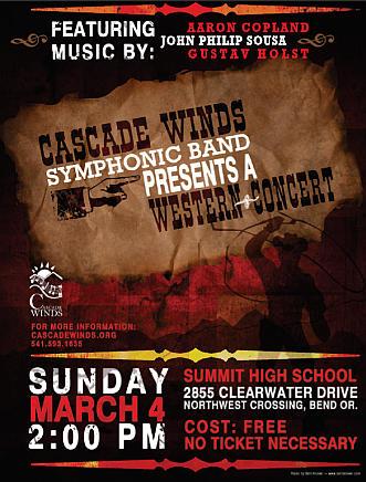 Cascade Winds concert, March 4