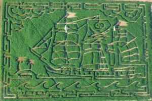 Central Oregon Pumpkin Company corn maze pirate ship