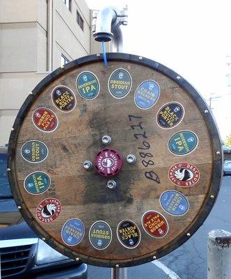 Deschutes Brewery spin the wheel!