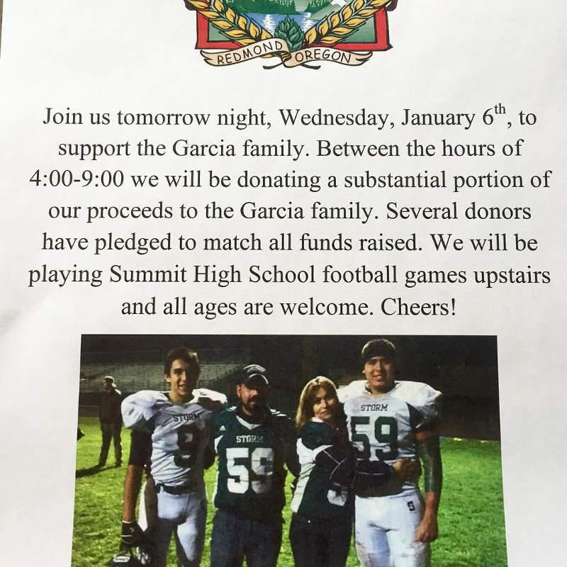 Cascade Lakes fundraiser for the Garcia family