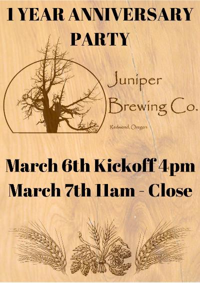Juniper Brewing anniversary
