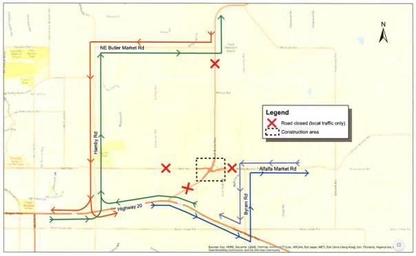 Powell Butte Highway Closure, June 20