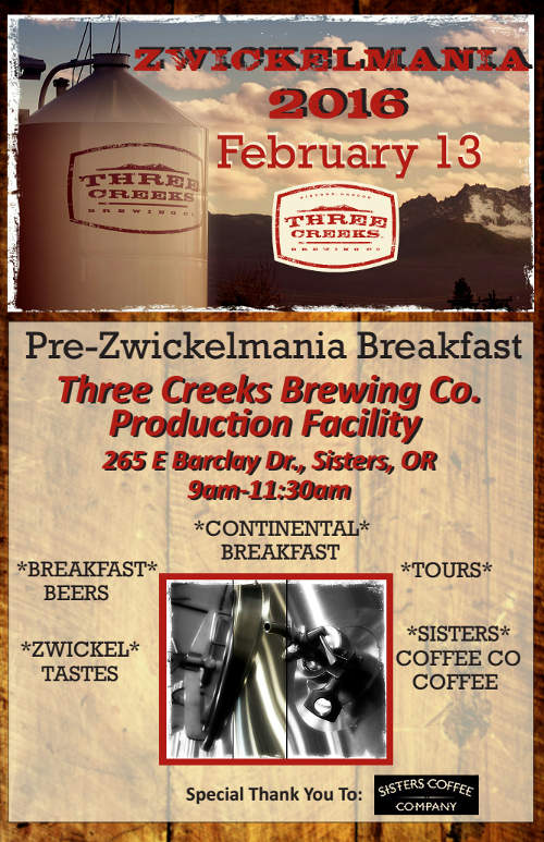 Three Creeks Brewing Pre-Zwickelmania Breakfast