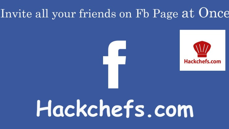 Invite All Friends On FB Page