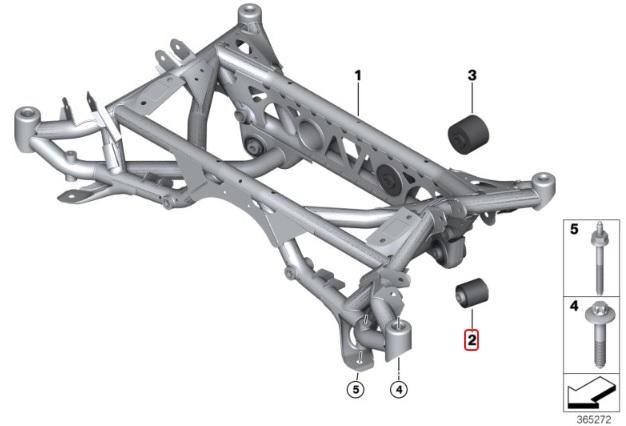 Millway Motorsport Rear Inner Lower Uniball Bushings (F8X