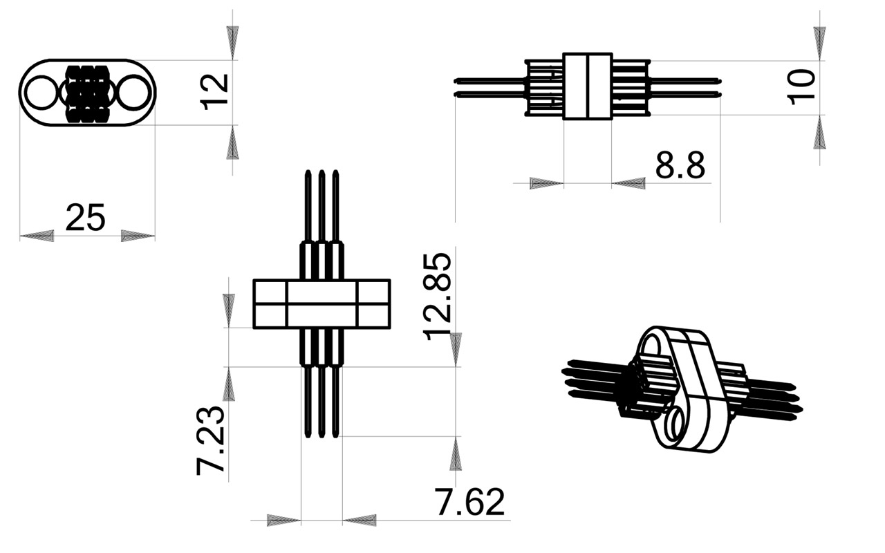 Magnetic Connect Wing Connectors 6 Pin