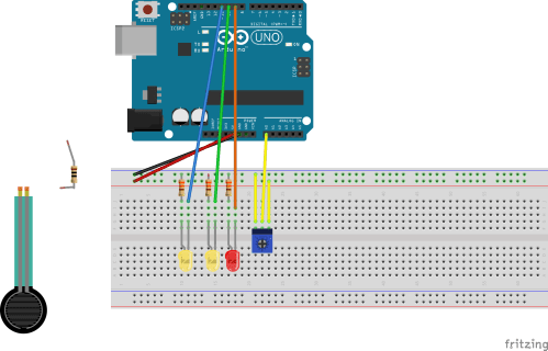 small resolution of lighting multiple leds with sensors force sensitive resistor or potentiometer wiring arduino lighting multiple leds with sensors