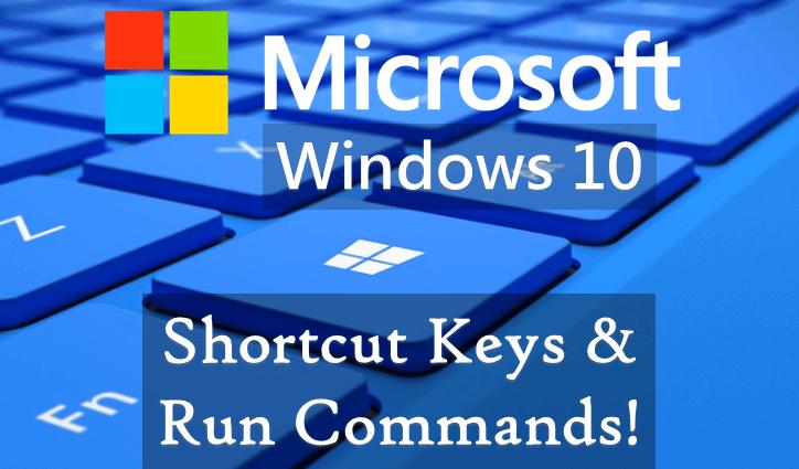 Microsoft Windows 10 Shortcut Keys