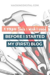 9 free blogging tools I wish I used when I started my first hosted WordPress blog via @HackingDigital
