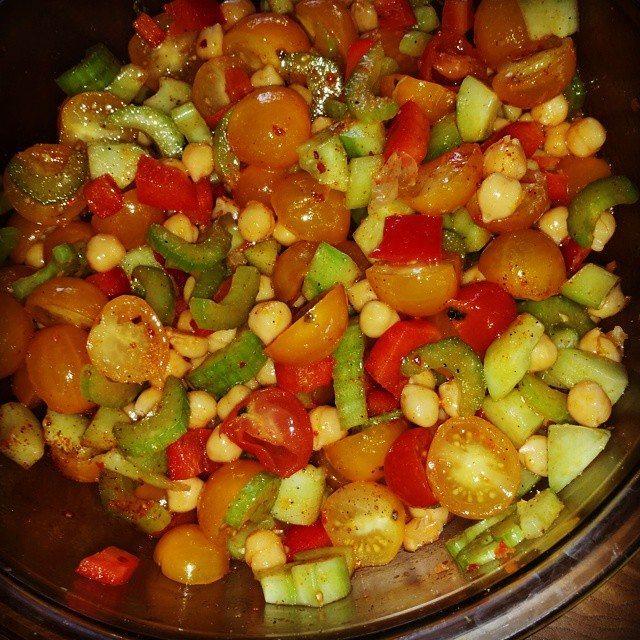 Low Sodium Cucumber and Tomato Summer Salad