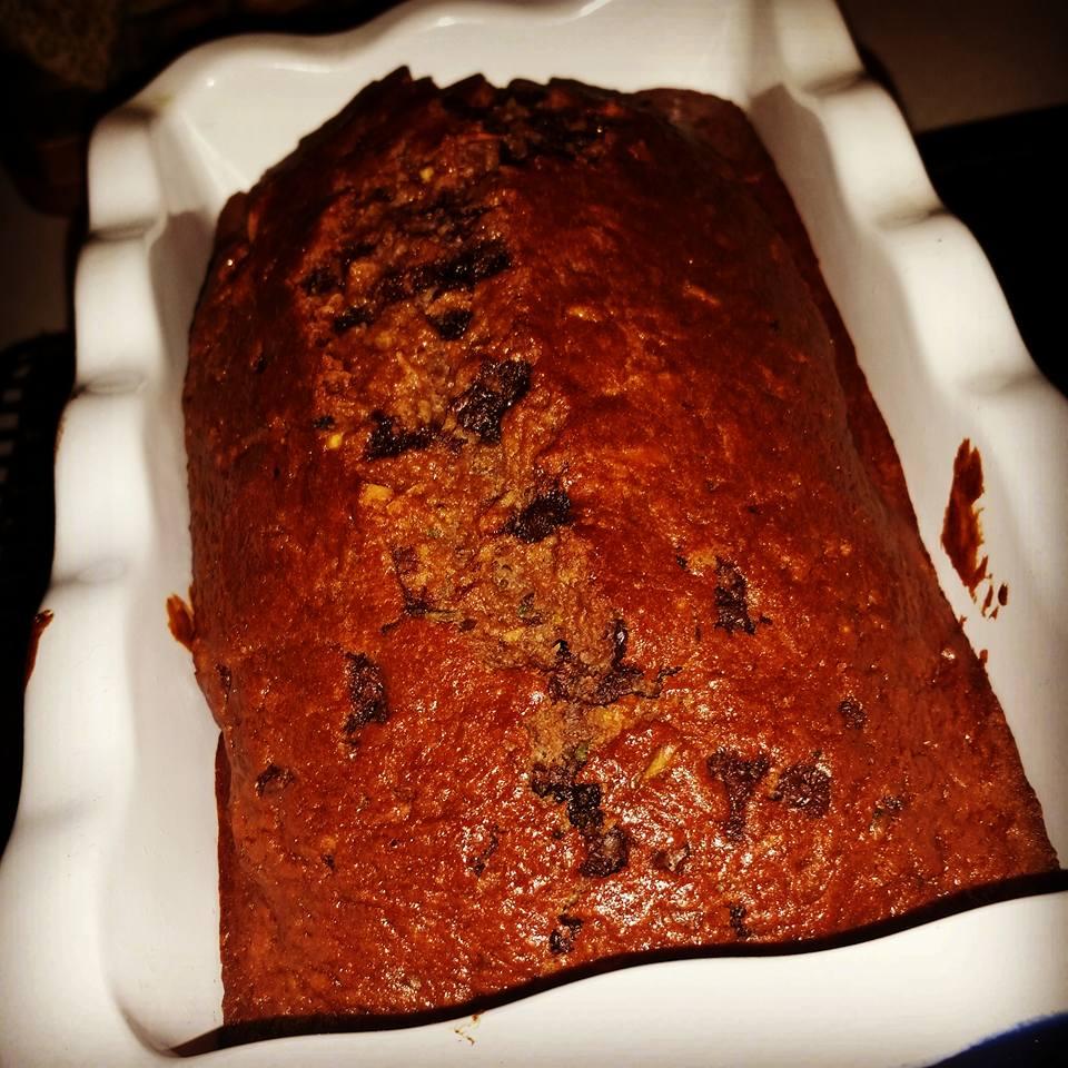 Low Sodium Coconut Double Chocolate Zucchini Bread