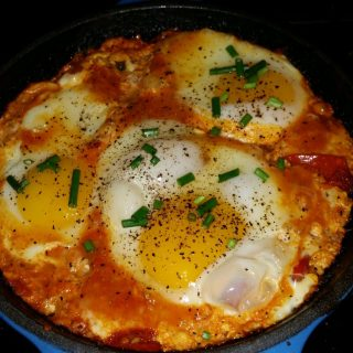 Low Sodium Shakshuka – Eggs Poached in a Spicy Tomato Sauce