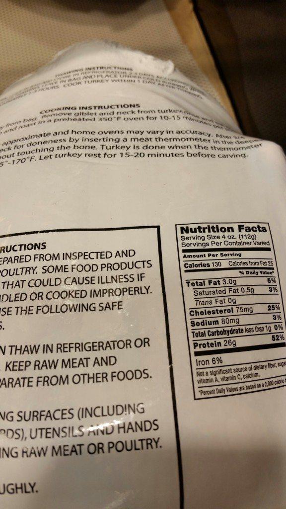 Low Sodium Turkey Nutrition