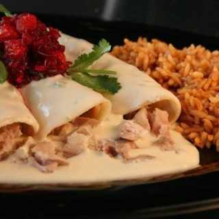 Low Sodium Turkey Enchiladas With Cranberry Salsa