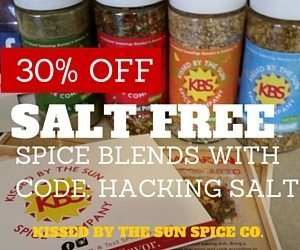 Get 30% off Kissed By The Sun Salt Free Spices with code Hacking Salt