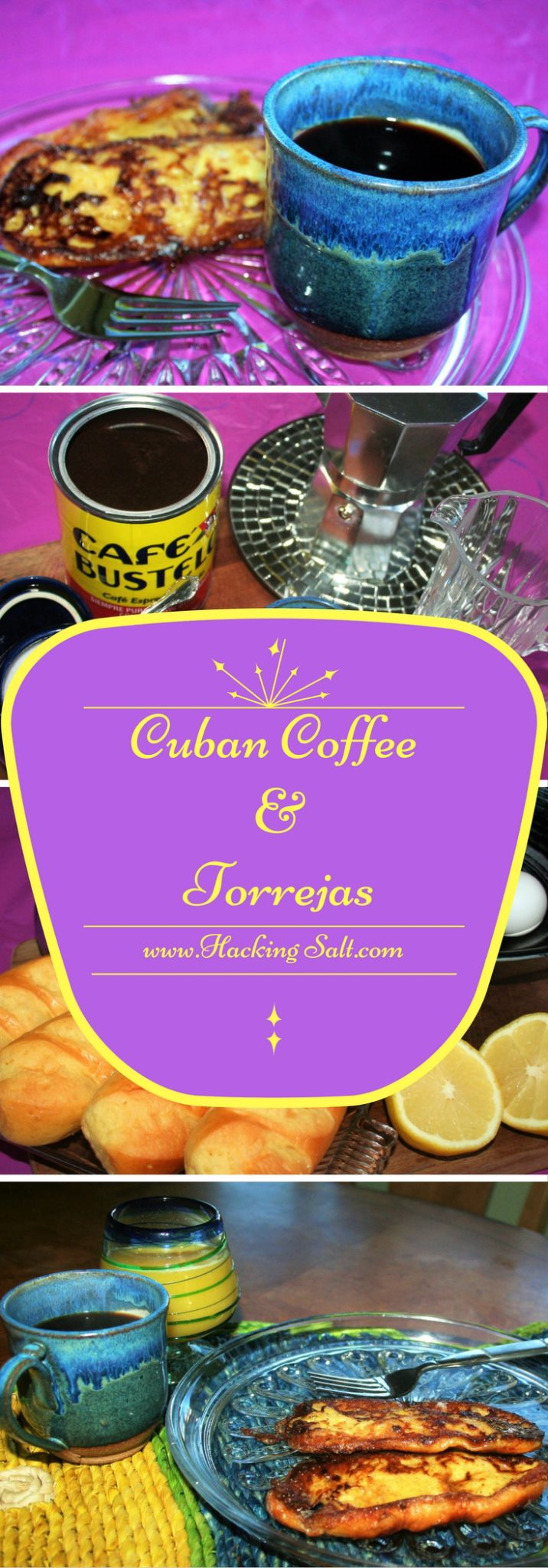 Cuban Coffee with Sweet Toast