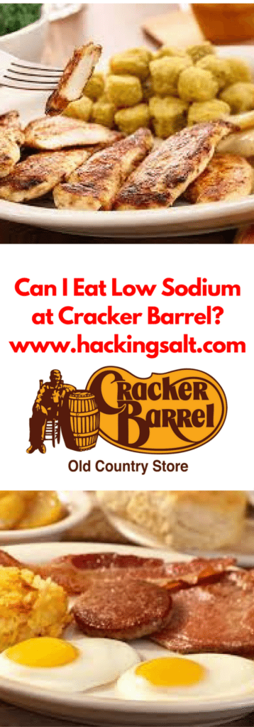 Can I eat low sodium at Cracker Barrel- A guide to the foods you can eat and stay low sodium. #lowsodium #hearthealthy