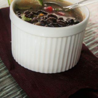 Low Sodium Slow-Cooker Black Bean Soup