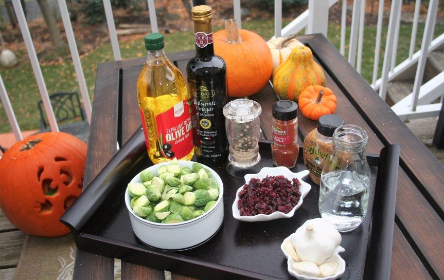 Low Sodium Slow-Cooker Cranberry Balsamic Brussels Sprouts