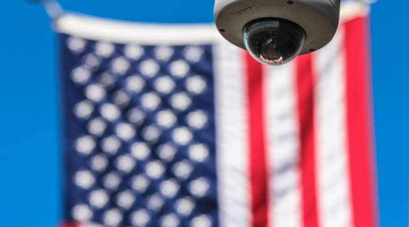flag usa controls security camera