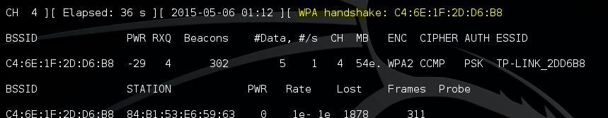 Aircrack-ng aireplay-ng WPA Handshake