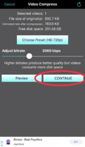 How to Compress a Video on iPhone with Video Compress-Shrink Vids